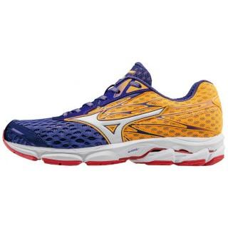 Chaussures Running Mizuno Wave Catalyst 2 Bleu / Orange / Rose Femme