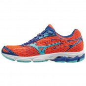 Chaussures Running Mizuno Wave Catalyst Bleu / Orange Femme