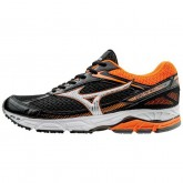 Chaussures Running Mizuno Wave Equate Noir / Orange Homme