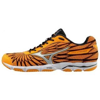 Chaussures Running Mizuno Wave Hitogami 4 Gris / Noir / Orange Femme