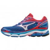 Chaussures Running Mizuno Wave Inspire 13 Blanc / Bleu / Rose Femme