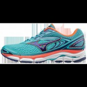 Chaussures Running Mizuno Wave Inspire 13 Bleu / Rose / Violet Femme