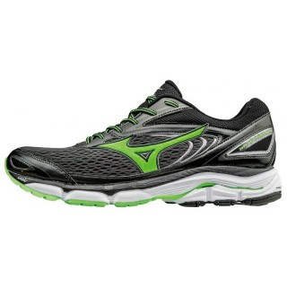 Chaussures Running Mizuno Wave Inspire 13 Noir / Vert  Homme