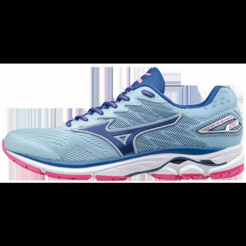 Chaussures Running Mizuno Wave Rider 20 Blanc Bleu Rose