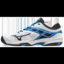 Chaussures Tennis Mizuno Break Shot EX AC Blanc / Bleu / Noir Homme