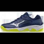 Chaussures Tennis Mizuno Exceed Star JR CC Blanc / Bleu / Jaune Junior
