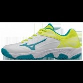 Chaussures Tennis Mizuno Exceed Star JR CC Blanc / Bleu / Jaune Junior