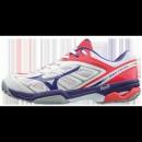 Chaussures Tennis Mizuno WAVE EXCEED AC Blanc / Rose / Violet Femme