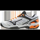 Chaussures Tennis Mizuno WAVE EXCEED CC Blanc / Noir / Orange Homme