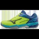 Chaussures Tennis Mizuno WAVE EXCEED TOUR 2 CC Bleu / Jaune Homme