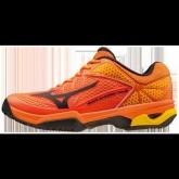 Chaussures Tennis Mizuno WAVE EXCEED TOUR 2 CC Noir / Orange Homme