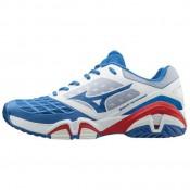 Chaussures Tennis Mizuno WAVE INTENSE TOUR 3 AC Blanc / Bleu / Rouge Homme