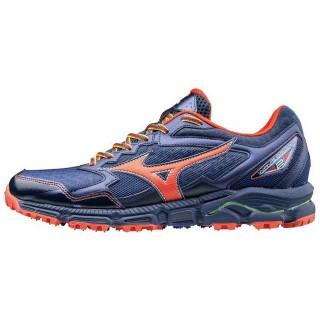 Chaussures Trail Mizuno Wave Daichi 2 Bleu / Rouge Homme