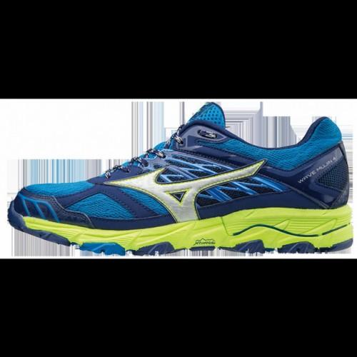 new arrival 54e17 b81ea Chaussures Trail Mizuno Wave Mujin 4 Bleu   Jaune Homme