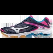 Chaussures Volley Mizuno Wave Lightning Z3  Blanc / Bleu / Rose Femme