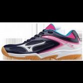 Chaussures Volley Mizuno Wave Lightning Z3 JR Blanc / Bleu / Rose Femme