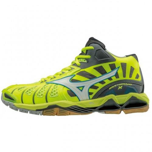Homme Mizuno Chaussures Wave X Tornado Volley Mid Noir Jaune 6q1wq485f