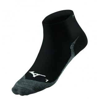 Mizuno Chaussettes DryLite Race Mid Noir / Rouge Running Femme