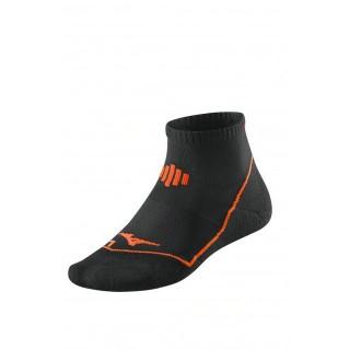 Mizuno Chaussettes Drylite Comfort Mid Noir / Orange Running Femme