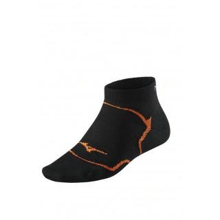 Mizuno Chaussettes Drylite Inner Grip Mid Noir / Orange Running Femme