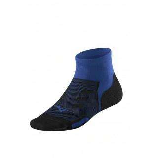 Mizuno Chaussettes Drylite Race Mid Bleu / Noir Running Femme