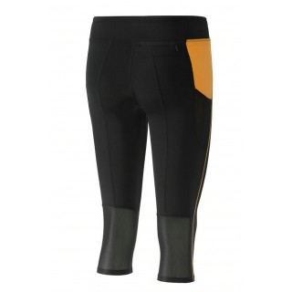 Mizuno Collant BG3000 3/4 Tights Noir / Orange Trail Trail Femme