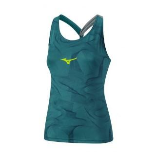 Mizuno Débardeur Printed Bleu / Vert  Tennis Vêtements Femme
