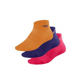 Mizuno Lot Chaussettes Training Mid Orange / Rose / Violet Running Femme