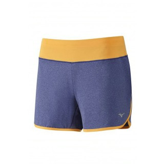 Mizuno Short Active Orange / Violet Running/Training Femme