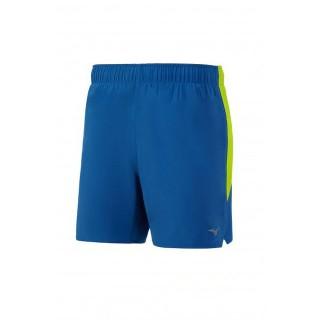 Mizuno Short Alpha 5.5 Bleu / Jaune Running  Homme