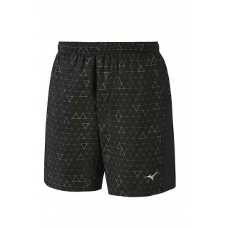 Mizuno Short Helix Printed Square 8.5 Gris / Noir Running  Homme