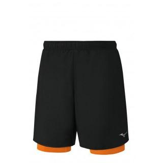 Mizuno Short Helix Square 7.5 2in1 Noir / Orange Running/Training Homme