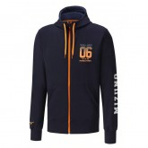Mizuno Sweat Heritage Zip Bleu Outdoor Homme