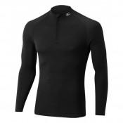 Mizuno T-shirt  Breath thermo Active col zippé Noir Outdoor