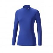 Mizuno T-shirt  Breath thermo col cheminée Bleu Outdoor