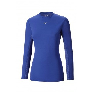 Mizuno T-shirt  Breath thermo col rond Bleu Outdoor