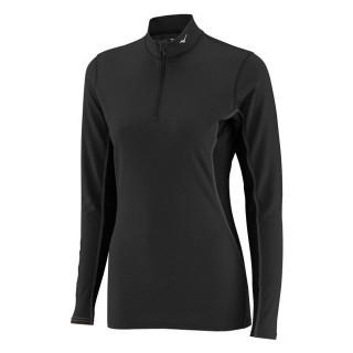 Mizuno T-shirt  Breath thermo col zippé Noir Outdoor