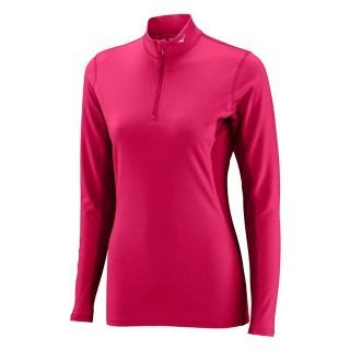 Mizuno T-shirt  Breath thermo col zippé Rose Outdoor