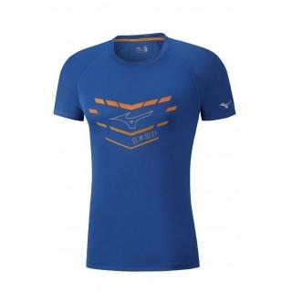 Mizuno T-shirt Core Graphic Bleu Running/Training Homme