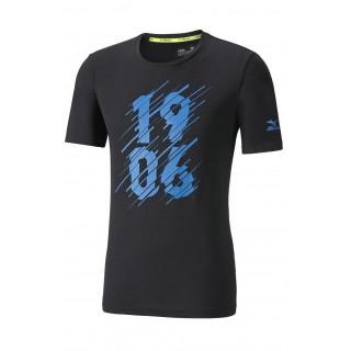 Mizuno T-shirt Heritage 1906 Bleu / Noir Running/Training Homme
