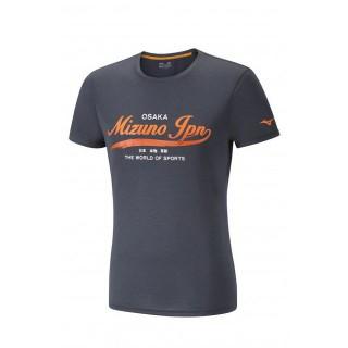 Mizuno T-shirt Heritage Gris Running/Training Homme