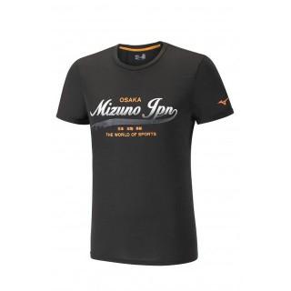 Mizuno T-shirt Heritage Noir Running/Training Homme