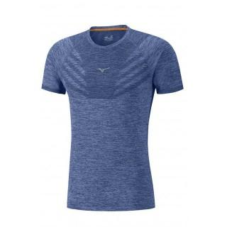 Mizuno T-shirt Tubular Helix Bleu Running/Training Homme