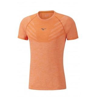 Mizuno T-shirt Tubular Helix Orange Running/Training Homme