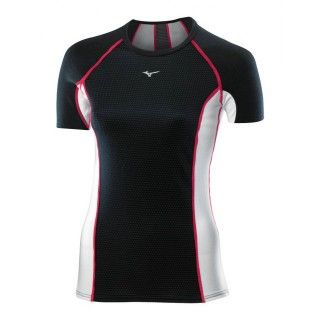 Mizuno T-shirt Virtual Body G1  Noir / Rose Outdoor