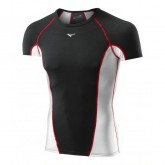 Mizuno T-shirt Virtual Body G1  Noir / Rouge Outdoor
