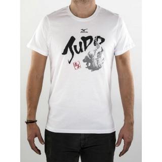 Mizuno T-shirt judo Adulte Blanc / Noir / Rouge Judo Nouveautés Junior