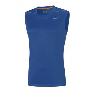 Mizuno T-shirt sans manches Core Bleu Running/Training Homme