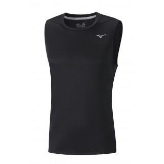Mizuno T-shirt sans manches Core Noir Running/Training Homme
