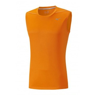 Mizuno T-shirt sans manches Core Orange Running/Training Homme